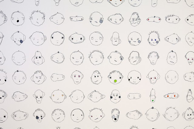 hondrou thoughts weird faces algorithm drawing