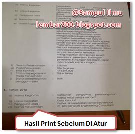 Cara Mengatasi Kelebihan Hasil Print DiWord