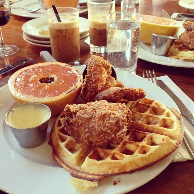 Fried Chicken and Waffles at Brooklyn Star in Williamsburg