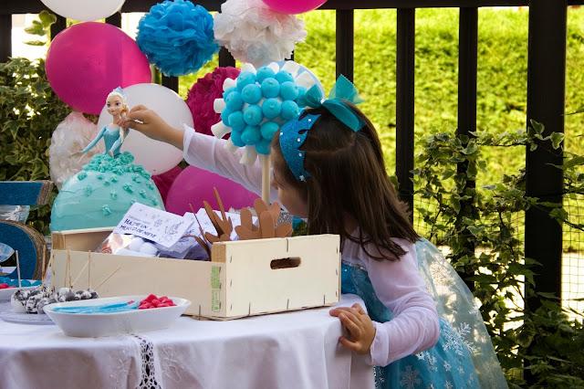 Diariodeco14: Candy bar Frozen por el cumple de la princesa - La princesa de la casa