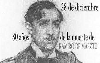 Efeméride de Ramiro de Maeztu.