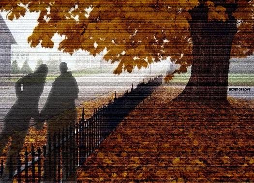 paisaje de amor otoño
