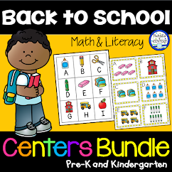 Back to School Math and Literacy Center Bundle