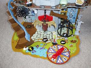 Scooby-Doo Haunted House 3D board game close up.
