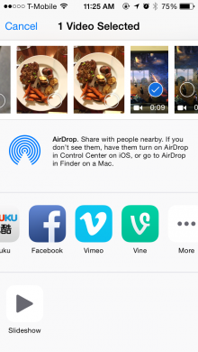 Vine iOS Update Lets You Post from Other Apps