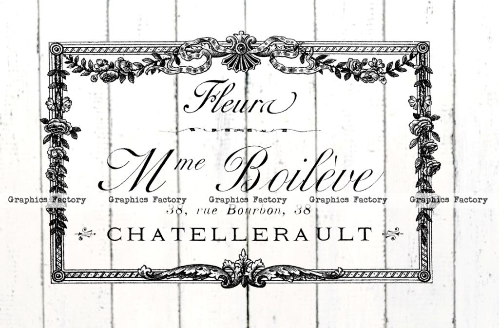 French Typography With Beautiful Vintage Frames