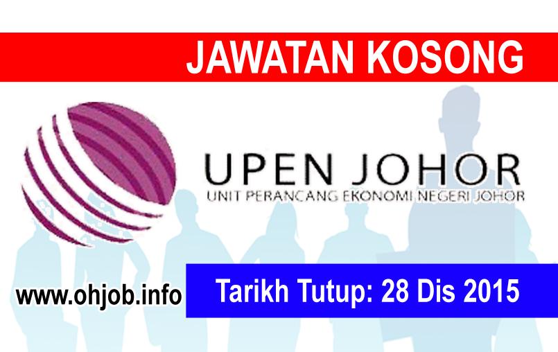 Jawatan Kerja Kosong Unit Perancang Ekonomi Negeri Johor logo www.ohjob.info disember 2015