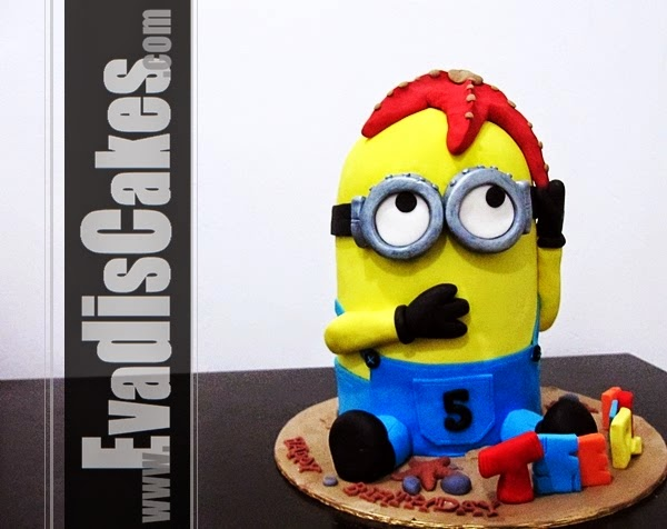 Picture of overall view for Minion with starfish cake