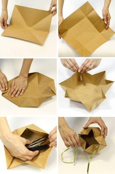 Бумажные упаковка своими руками