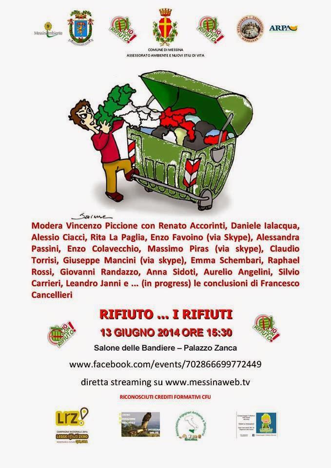 """RIFIUTO... I RIFIUTI"" INCONTRO-DIBATTITO A PALAZZO ZANCA"