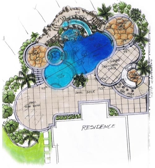 Final major project january 2012 Pool design plans