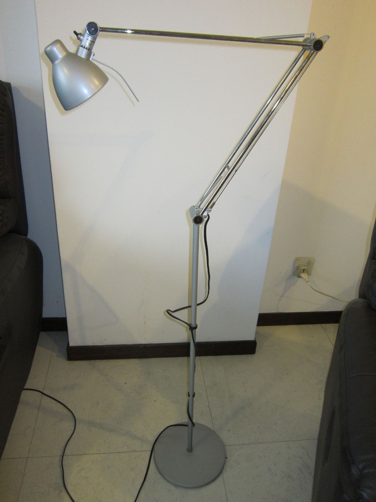 Pieces for the home ikea antifoni floor reading lamp in for Ikea antifoni floor reading lamp silver color