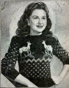 The Vintage Pattern Files: 1940/50s Knitting - Reindeer Sweaters