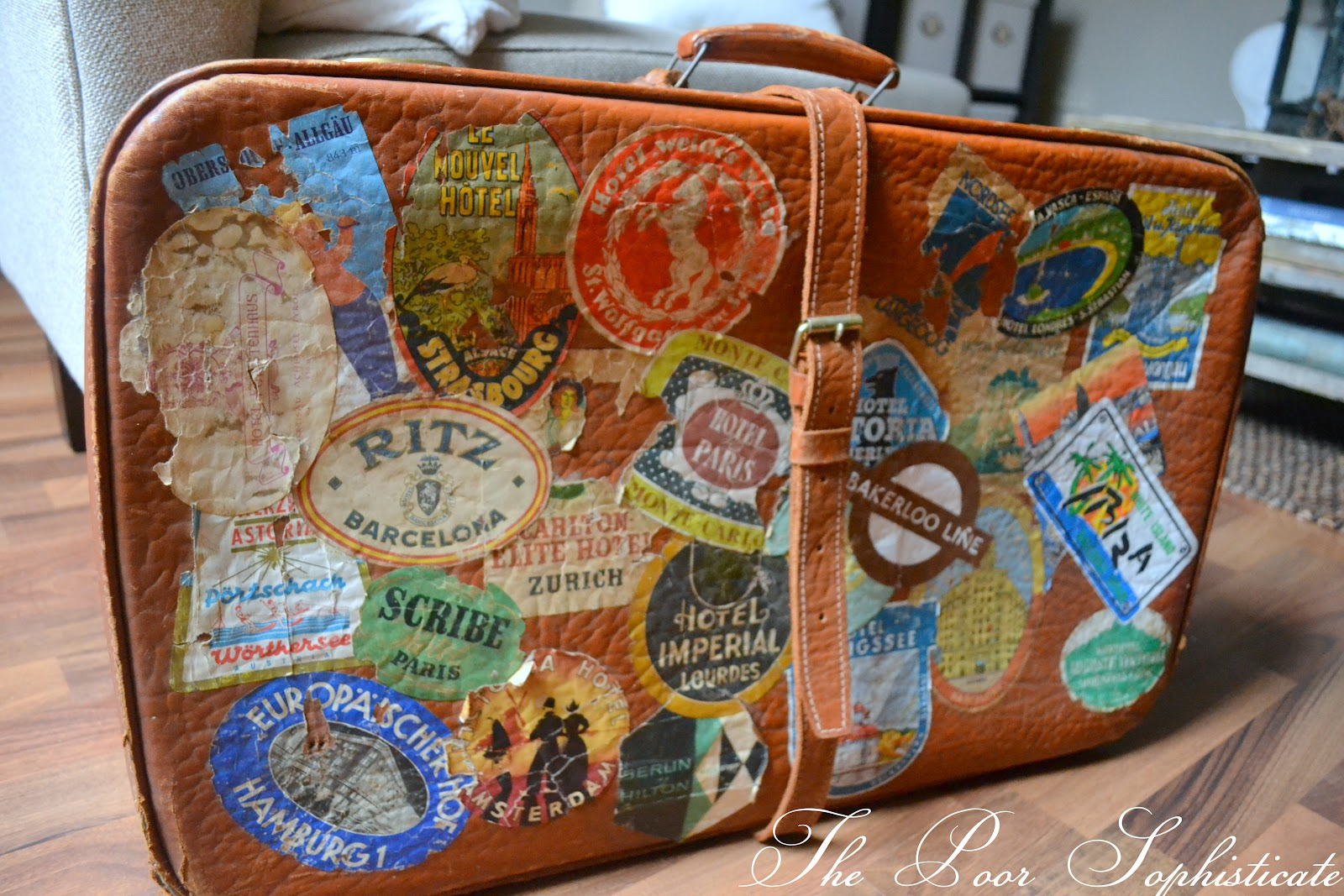 the poor sophisticate: Coffee Bag Rugs, Vintage Luggage ...