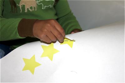 sticker hub yellow stars vinyl wall decal