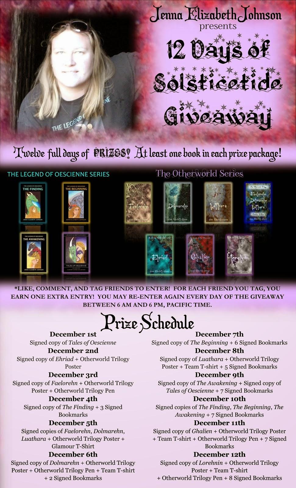 Twelve Days of Solsticetide Giveaway Event!