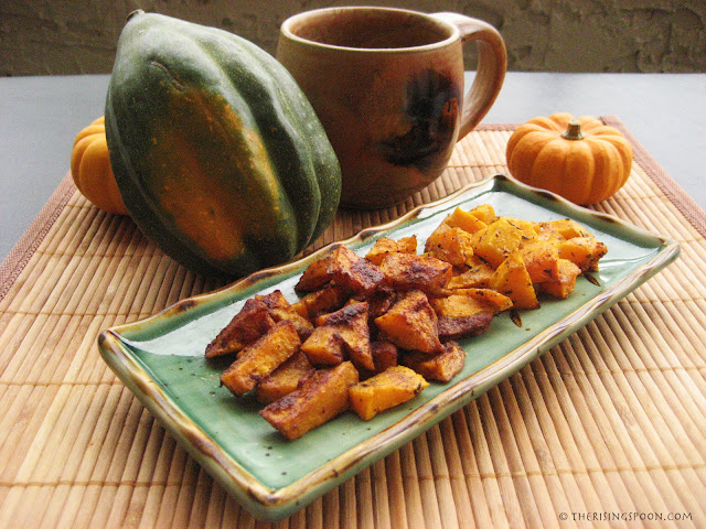 The Rising Spoon Blog: Roasted Butternut Squash Seasoned Two Ways