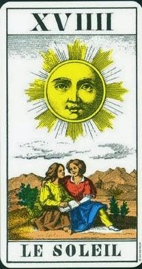 Carta de el sol en el tarot