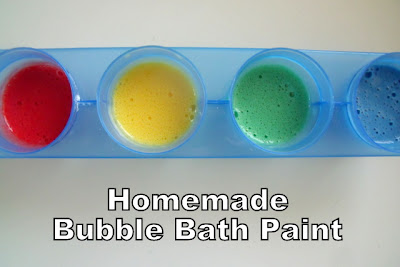 Homemade Bubble Bath Paint DIY