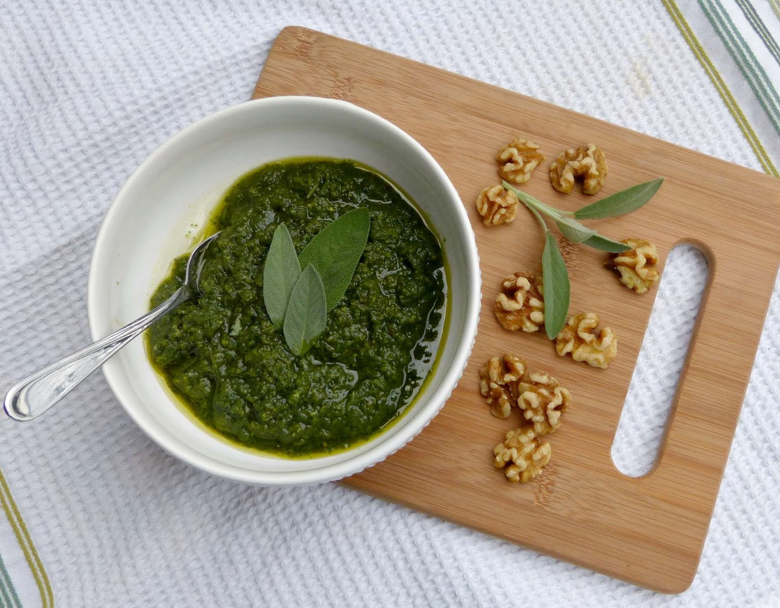 ... basil pesto? This sage and walnut variety is the perfect alternative