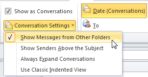 how to delete conversation history folder in outlook