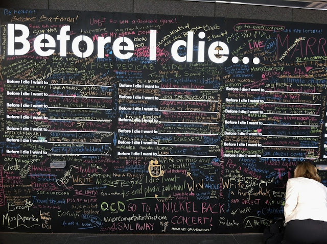 Before I die .... I want to ....