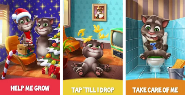 how to play my talking tom 2