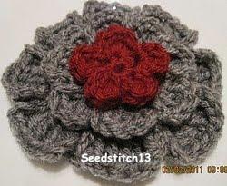 Red 5 Petal Flower