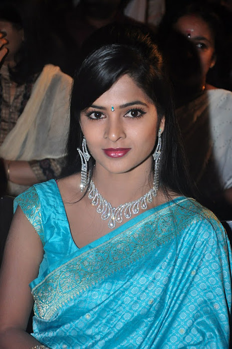 madhumitha transparent silk saree photo gallery