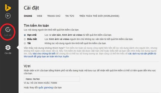 Cách xóa lịch sử tìm kiếm trên Bing 3