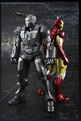 Bandai SH Figuarts Iron Man 2 - Iron Man Mk VI & War Machine figures