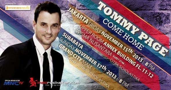 "Konser Tommy Page ""Come Home"" di Surabaya"