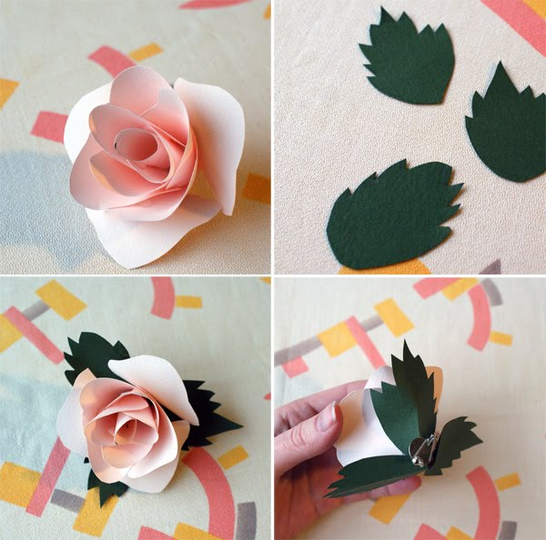 Diy paper flower corsages rose create a lemon looking shape about 2 wide and 1 12 tall youll need about 11 petals start by creating the center of the rose mightylinksfo