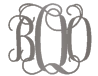 boo monogram necklace