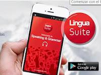 un teléfono móvil con un curso de inglés en la pantalla