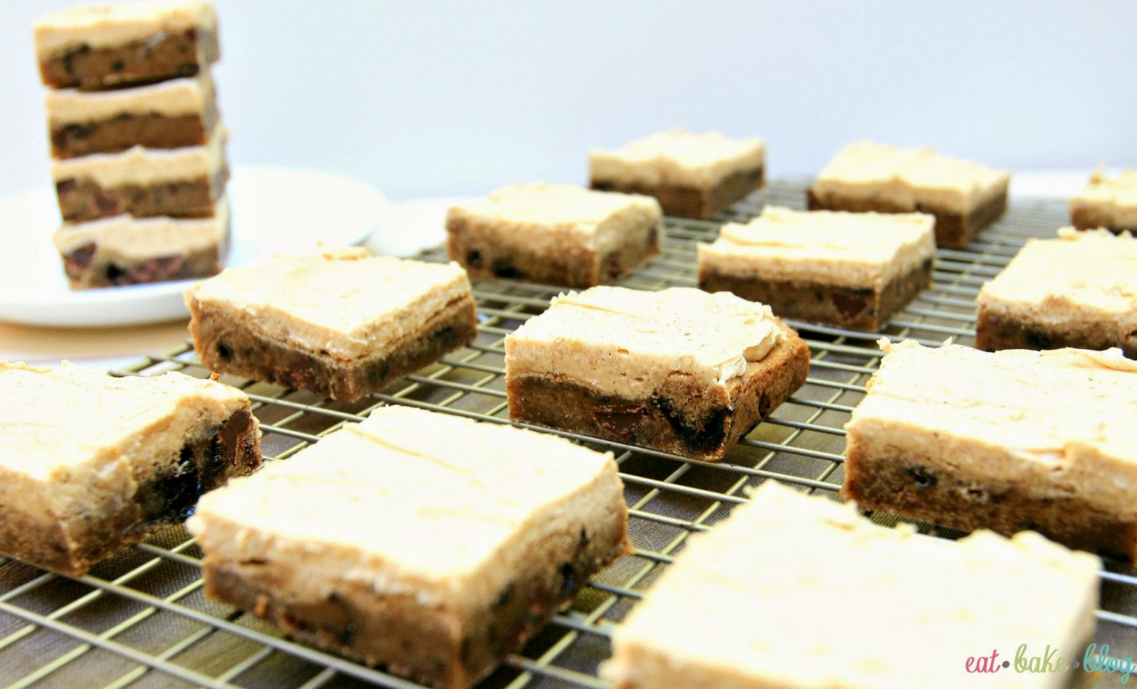 best blondies recipe easy chocolate chip blondies browned butter blondies recipe Bailey's recipe St. Patrick's Day dessert recipe