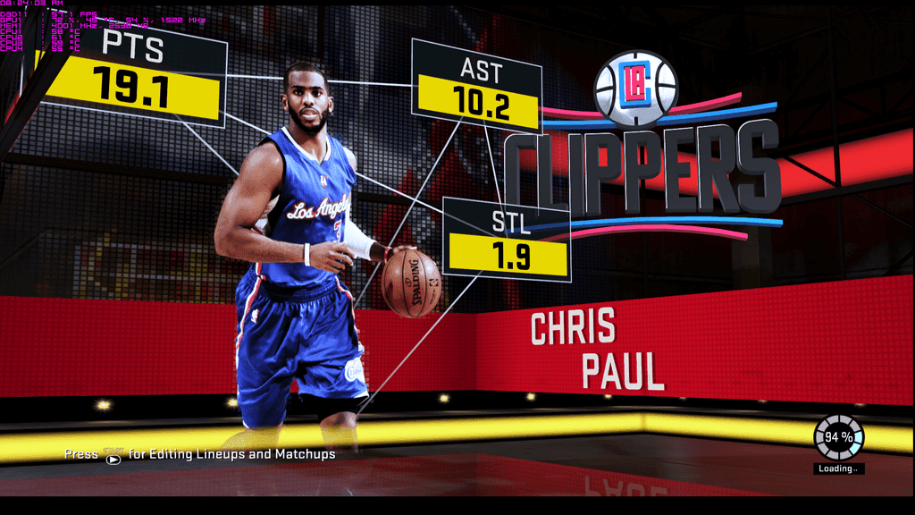 NBA 2k16 Game Loading Screen - Chris Paul