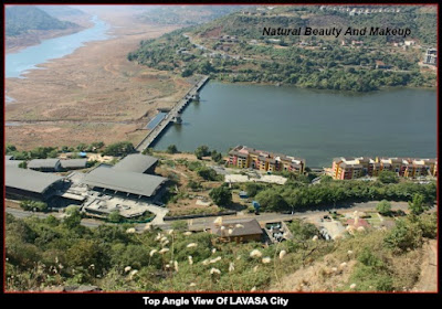 Top angle view of Lavasa City