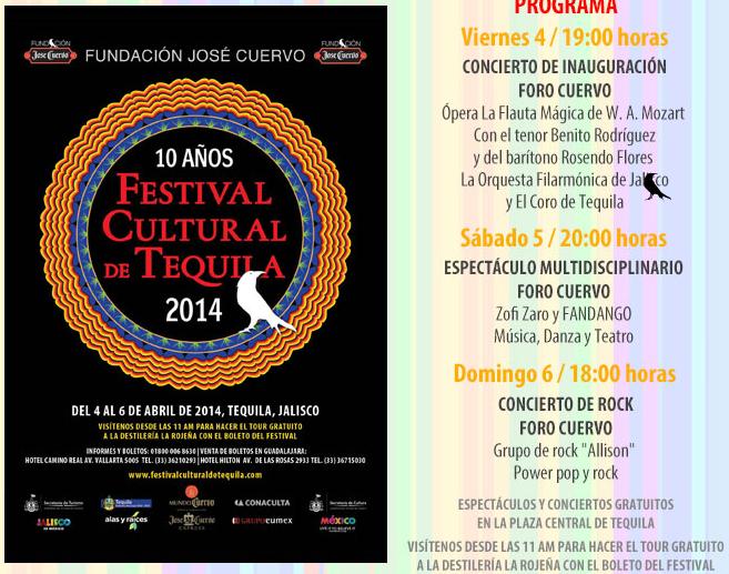 Programa Festival Cultural Tequila 2015