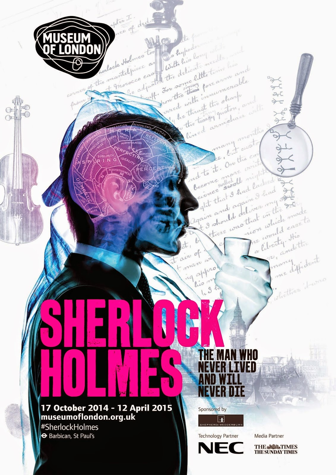 The first Sherlock Holmes exhibition in England in more than 60 years.