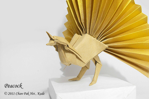 origami peacock folding instructions
