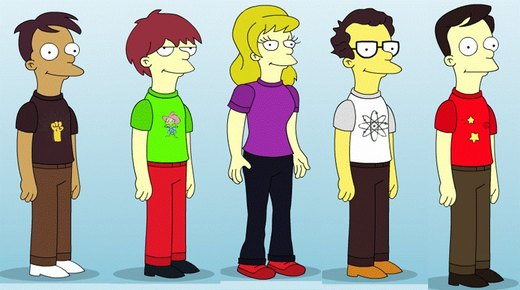 simpson big bang theory por Kirby-with-a-quiff