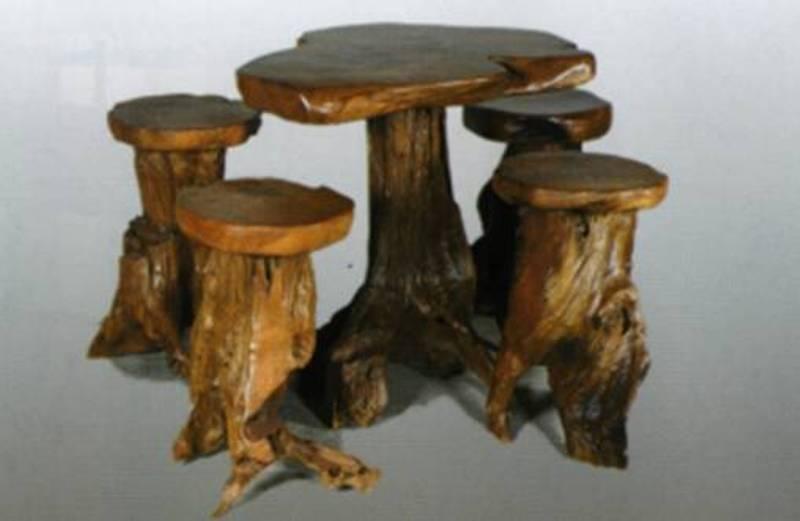 Decoracion de interiores estilo rustico muebles varios y for Mesa de tronco