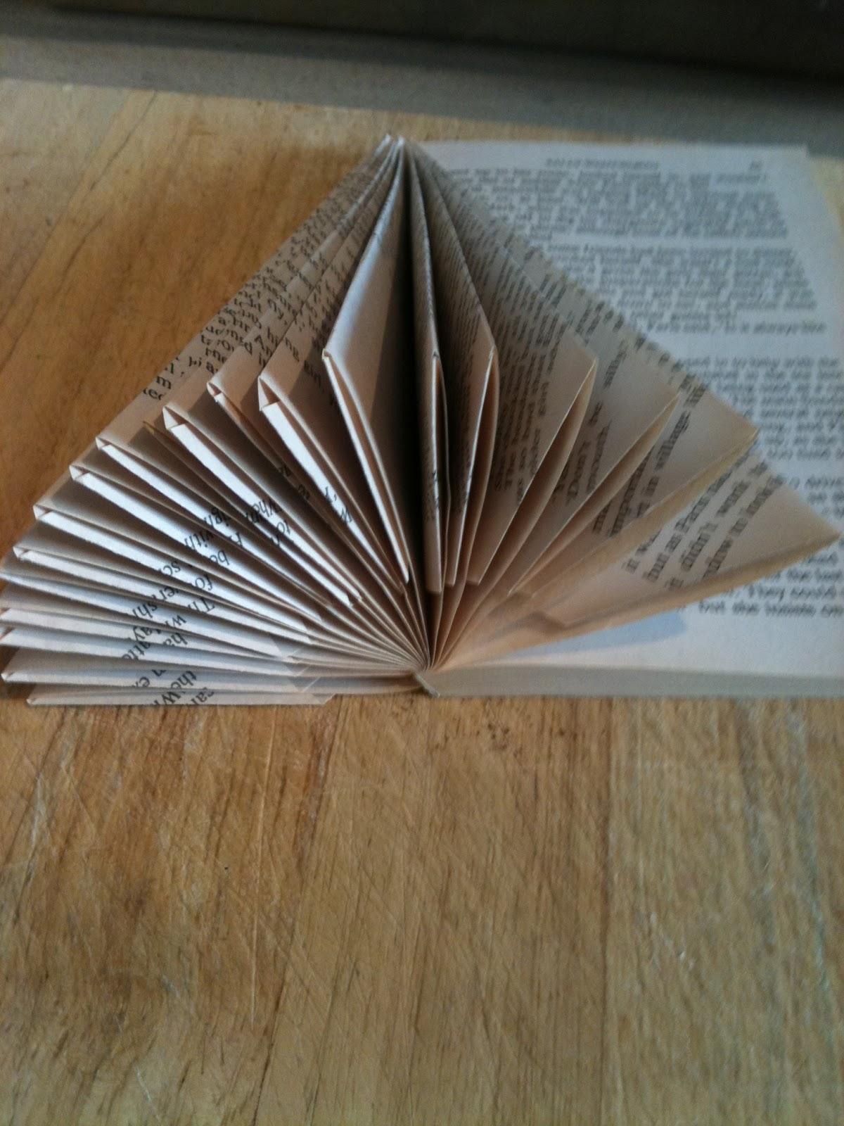Five go blogging how to make angels and christmas trees for Christmas tree made from old books
