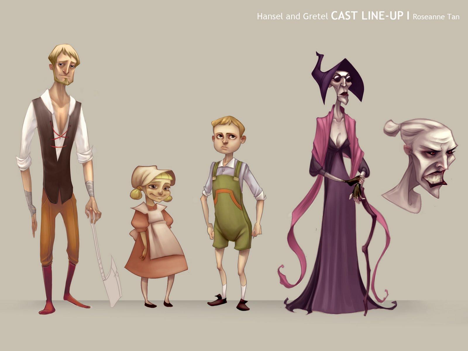Animation Character Design Theory : Tan art hansel and gretel cda
