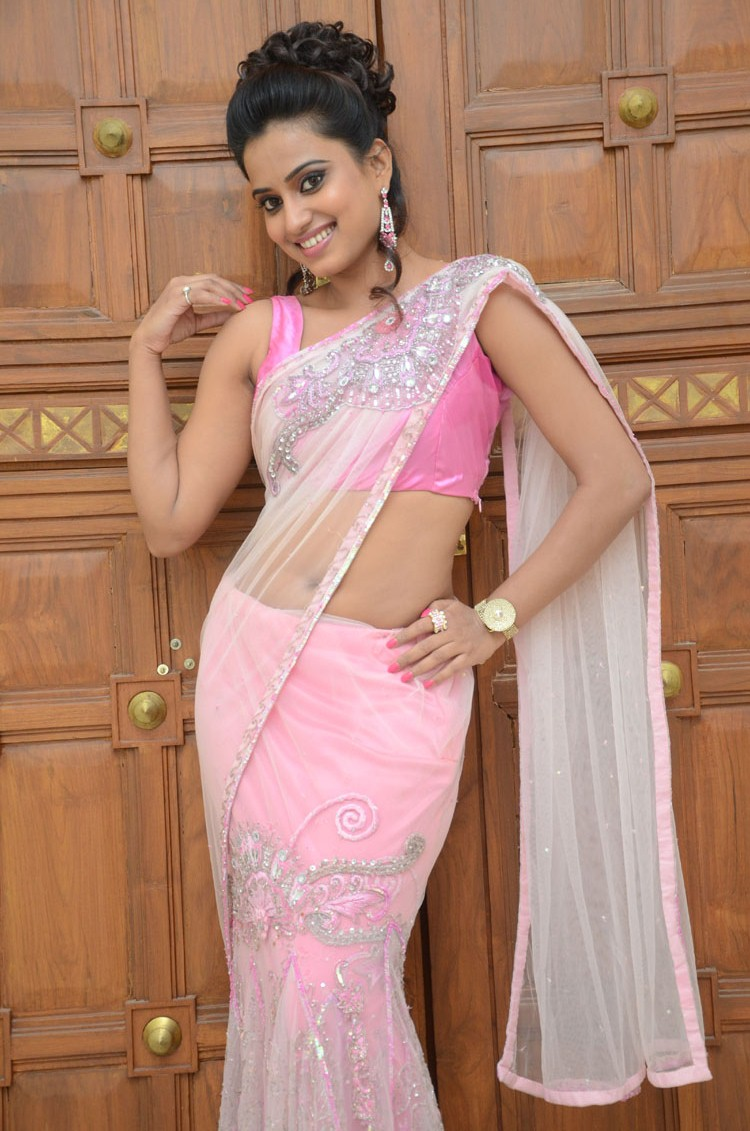Dimple Chopade Pictures in Saree at Romance Telugu Movie Audio Launch ~ Celebs Next