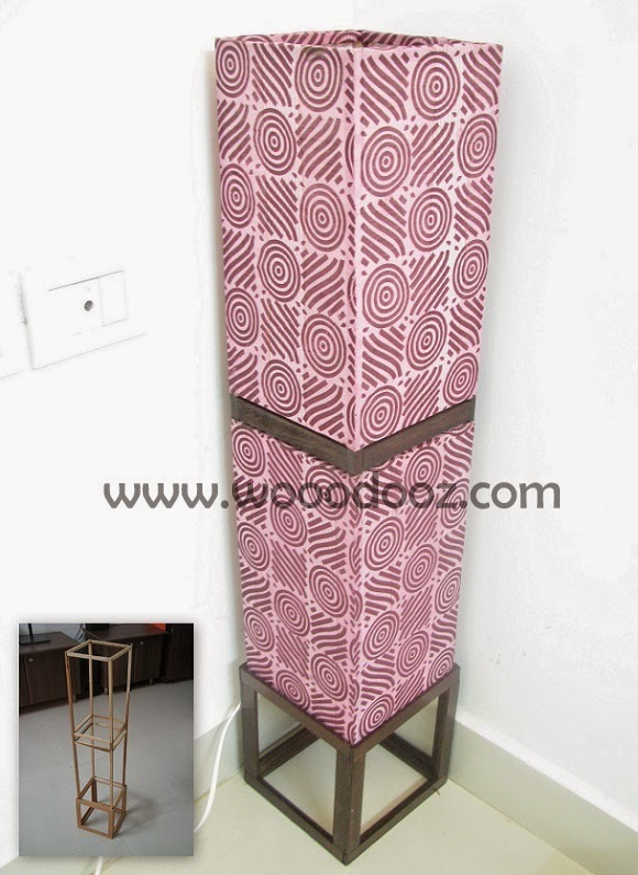 Beautiful pink floor lamp