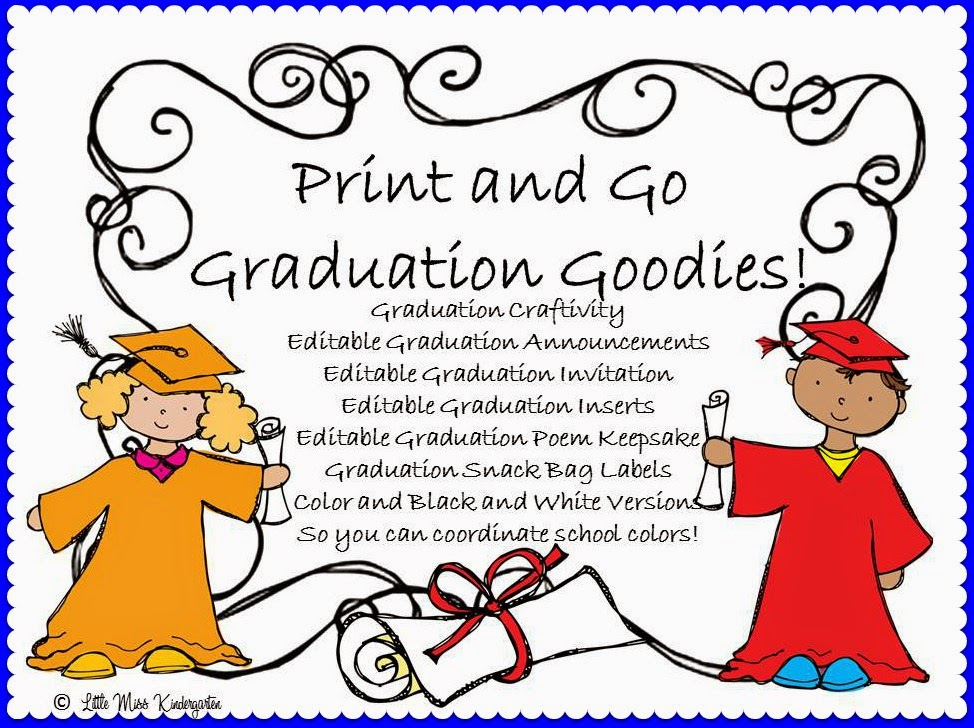 https://www.teacherspayteachers.com/Product/Graduation-Goodies-and-Craftivity-679423