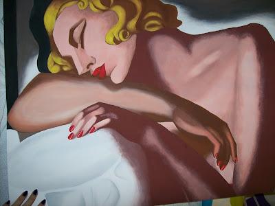 Dormilona de Tamara de Lempicka a témperas