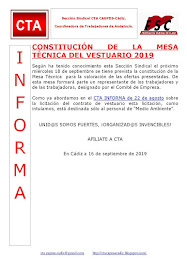 CONSTITUCIÓN DE LA MESA TÉCNICA DEL VESTUARIO 2019